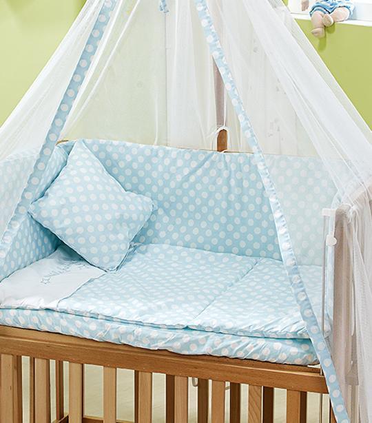 Mavi Baloncuk Tekstil Seti
